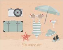 Sommarbeståndsdelar Fotografering för Bildbyråer