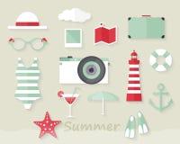 Sommarbeståndsdelar Royaltyfri Bild