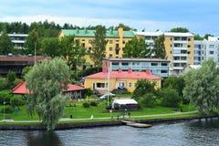 Sommardag på Savonlinna Arkivfoto
