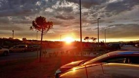 Sommardag, solnedgång Arkivbilder