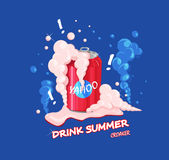 Sommardrink vektor illustrationer