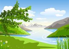 Sommaren landskap Vektor Illustrationer