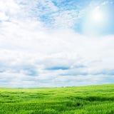 SOMMAREN landskap Arkivfoto