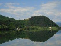 Sommaren landskap i Rumänien Fotografering för Bildbyråer