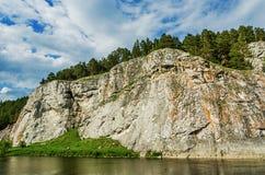 SOMMAREN landskap Ryssland ural Royaltyfri Fotografi