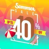 Sommarförsäljningar och speciala rabatter Arkivfoto