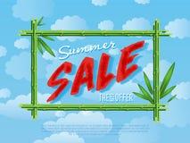 Sommarförsäljningsaffisch för detaljhandel Arkivbilder
