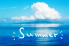 Sommarferie Fotografering för Bildbyråer