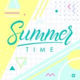 sommarferie lurar bakgrund stock illustrationer