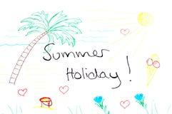 Sommarferie och semester - strand och sol Arkivbild