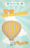 Sommarferier och ballong för varm luft Arkivbilder