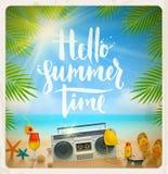 Sommarferier och semesterillustration Arkivfoto