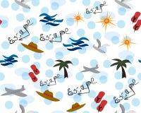 Sommarflykt Sömlös gullig ferie royaltyfri illustrationer