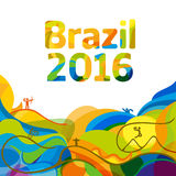 Sommarfärg av tapeten för olympiska spel 2016 Arkivbilder