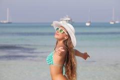 Sommarfrihet, ferie i Mallorca Spanien fotografering för bildbyråer