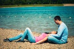 Sommarförälskelse Fotografering för Bildbyråer
