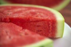 Sommarfruktstilleben, naturlig vattenmelonfriskhet royaltyfria foton