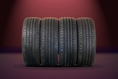 4 sommargummihjul Arkivfoto