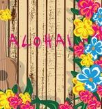 SommarHawaii kort royaltyfri illustrationer