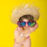 Sommarhulaflicka fotografering för bildbyråer