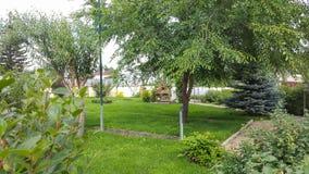 Sommarhusområde landskap royaltyfri fotografi