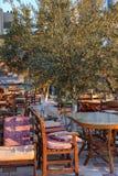 Sommarkafé i Turkiet Arkivbilder