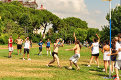 SommarKorfball händelse i Istanbul Royaltyfria Foton