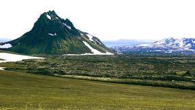 Sommarlandskap av berg på Landmannalaugar stock video