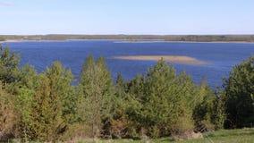 Sommarlandskap av Braslav sjöar lager videofilmer