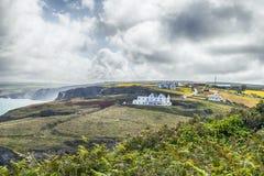 Sommarlandskap i Cornwall, UK Royaltyfri Fotografi