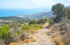 Sommarlandskap i Kreta royaltyfri foto
