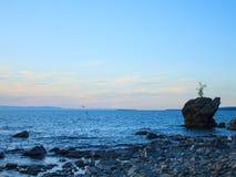 Sommarlandskap, Lake Baikal arkivfoto