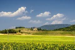 Sommarlandskap nära Perugia Arkivbilder