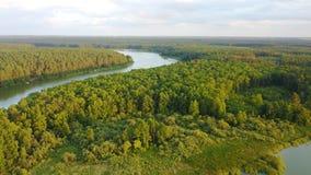Sommarlandskap på den Teteriv floden, Zhitomir, Ukraina Royaltyfria Bilder