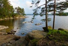 Sommarlandskap på västkusten, Sverige arkivfoton