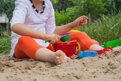 Sommarlekar Former för lek med sand Fotografering för Bildbyråer