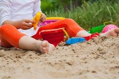 Sommarlekar Former för lek med sand Royaltyfria Foton