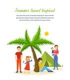 Sommarlopp - familjtur som värme landet, gemensam rekreation Royaltyfri Fotografi