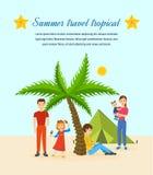 Sommarlopp - familjtur som värme landet, gemensam rekreation Royaltyfri Bild