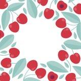 Sommarmall av körsbäret Affisch som är till salu i plan stil royaltyfria bilder