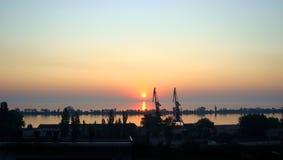 Sommarmorgon i porten Arkivbild