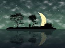Sommarnatt royaltyfria foton