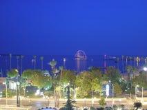 Sommarnatt i Cannes Fotografering för Bildbyråer