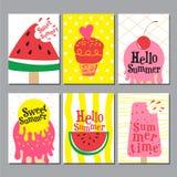 Sommarorienteringsdesign, hälsningkort, räkningsbok, baner, affisch Fotografering för Bildbyråer