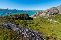 Sommaroy在特罗姆斯,挪威, 图库摄影