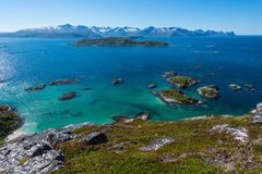 Sommaroy在特罗姆斯,挪威, 免版税库存照片