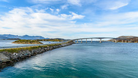 Sommaroy Bridge, Tromso, Norway. Bridge to the Sommaroy island, Tromso, Norway, Scandinavia stock images