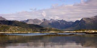 Sommaroy, condado de Tromso, Noruega, paisagem Imagens de Stock Royalty Free