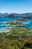 Sommaroy in Troms, Norway,. Sommaroy, a populated island located about 36 kilometres west of the city of Tromso in the western part of Troms county, Norway royalty free stock images