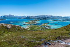 Sommaroy in Troms, Norway,. Sommaroy, a populated island located about 36 kilometres west of the city of Tromso in the western part of Troms county, Norway royalty free stock photo